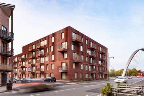 Backstein-Wohnhäuser von Mecanoo in Manchester