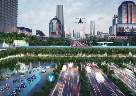 Die Vertiports von MVRDV für die Stadt der Zukunft