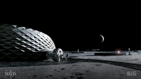 3D-druckbare Gebäude zum Leben auf dem Mond von BIG, ICON und SEArch+