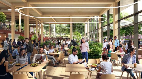 Studentenzentrum für die Johns Hopkins University von BIG, aus Holz und Glas