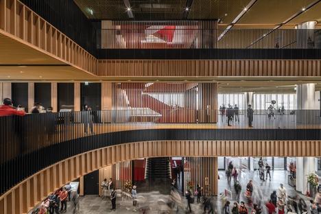 Stahlkonstruktion für die Bibliothek in Tainan von Mecanoo