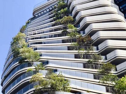 Der kohlenstoffabsorbierende vertikale Wald von Vincent Callebaut