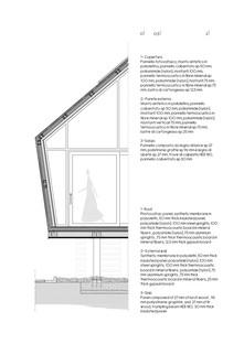 Haus aus Stahl, Holz und Polyolefin