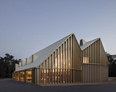 Der Park Pavilion aus Holz und Ziegel von Monadnock & De Zwarte Hond